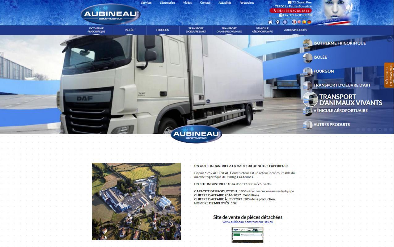 Sites internet aubineau constructeur agence conseil en for Site constructeur